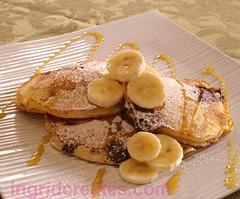 Recipe for Chocolate and Banana pancakes