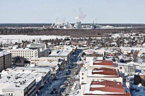street city winter snow cold industry finland scenery factory kemi