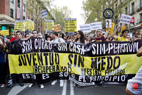 Juventud sin futuro - Youth job protests, Madrid, April 7, 2011