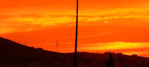 city sunset red panorama sun sol mexico rojo afternoon ciudad panoramic filter cielo nubes heat zacatecas guadalupe crepusculo tarde caliente roja calor panorámica filtro marumi panoramik