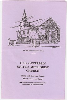 2/20/1994 Old Otterbein church bulletin, page 1