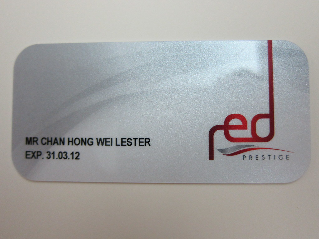 SingTel Red Prestige - Card Front