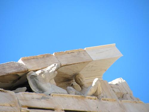 Figuras en la parte superior del Partenón