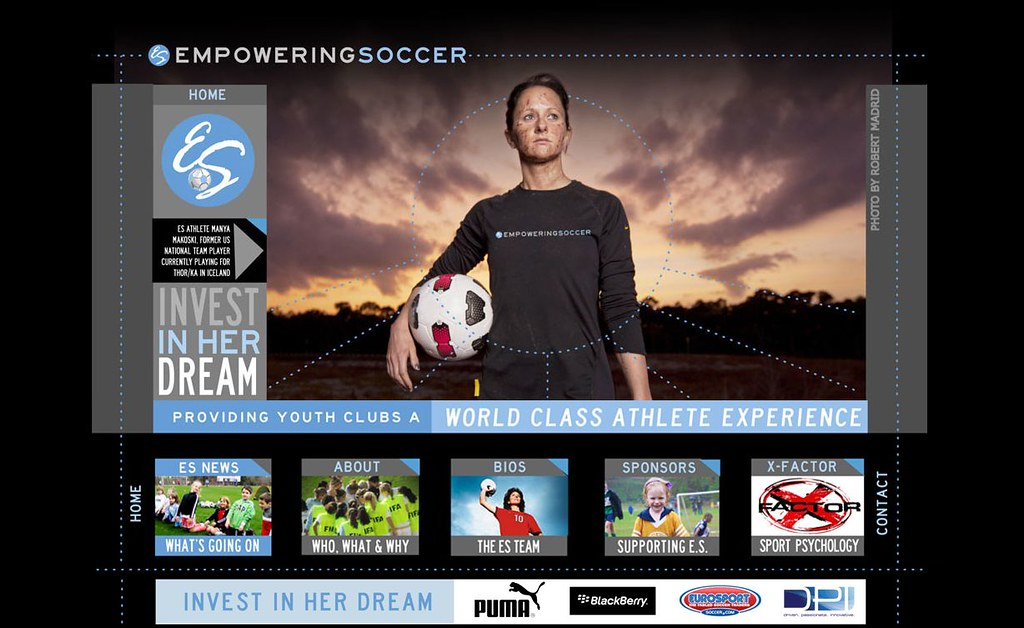 EmpoweringSoccer WordPress Theme | I created a slick theme u… | Flickr