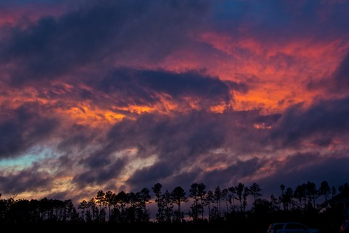 sunset sky orange storm clouds