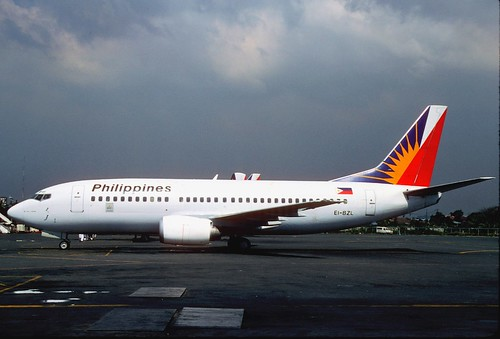 Philippine Airlines Boeing 737-3Y0; EI-BZL, February 1996