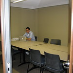 Another student utilizes one of our study rooms. Karen H. Huntsman Library, Snow College, Ephraim, Utah.