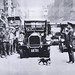 Mother cat stops traffic 1925