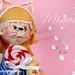 muñeca personalizada Yaiza en patines by Dulce decoración (modelado - tartas decoradas)