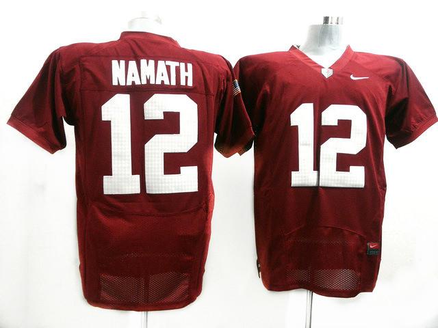 size 40 7d60a d5868 NCAA-Alabama-Crimson-Tide-12-Joe-Namath-Red-Football-Jerse ...