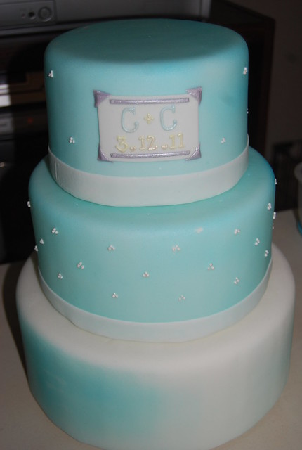 Light Blue and Yellow Wedding Cake Cyrus and Chrisse 39s Wedding Cake