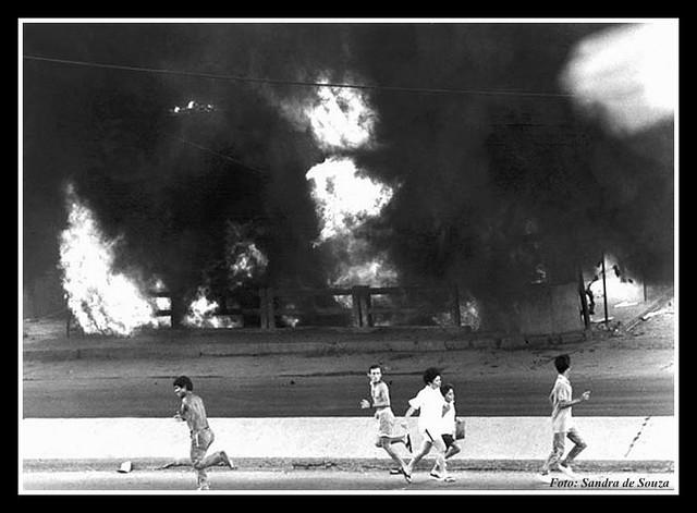 Incêndio na Av. Brasil - Favela Parque União em Bonsucesso