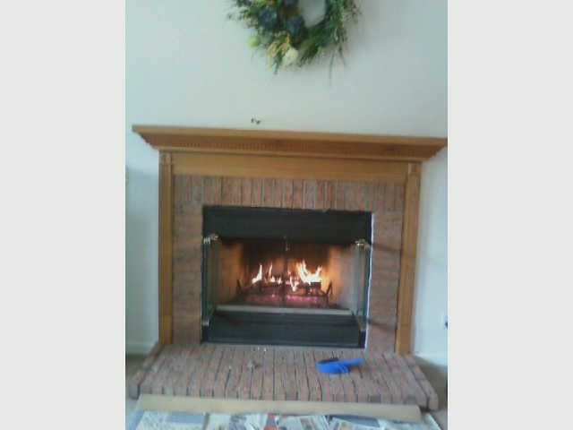Gas Fireplace Install Brick Surround And Mantel Flickr Photo Sharing