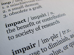 Dictionary definition of 'impact': the benefit or contribiution to society of research