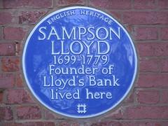 Photo of Sampson Lloyd blue plaque