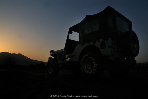 pakistan sunset jeep willys52