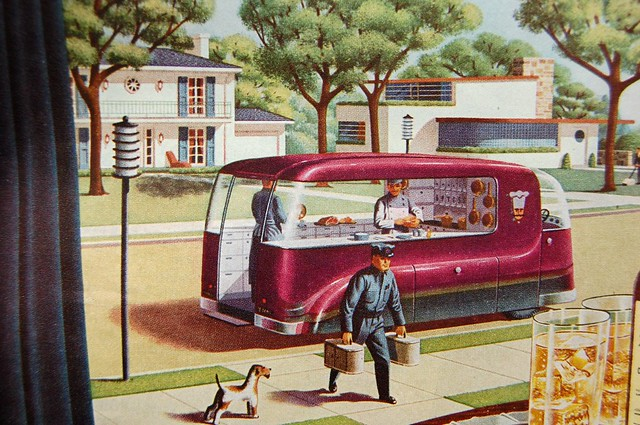 Future Food Delivery Predictions From 1940s Flickr
