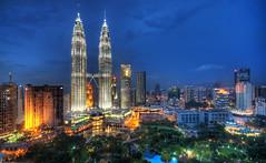 Flying Through the Night Skies of Kuala Lumpur