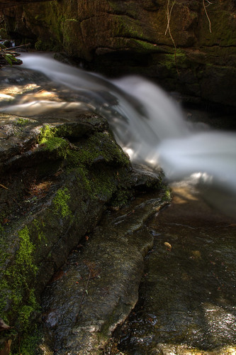 longexposure white wet water rock creek waterfall nc moss stream branch north carolina cherokee hdr jacksoncounty socofalls davidhopkinsphotography