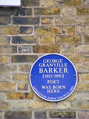Photo of George Barker blue plaque