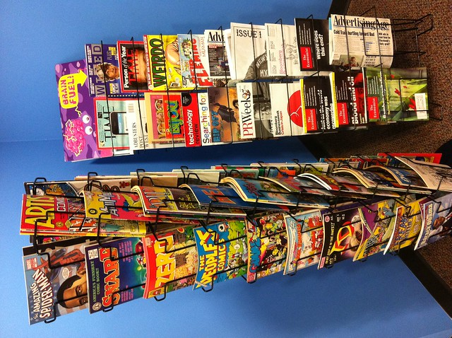 Comic book rack and magazine display in jess3 hq dc flickr photo sharing - Comic book display shelves ...