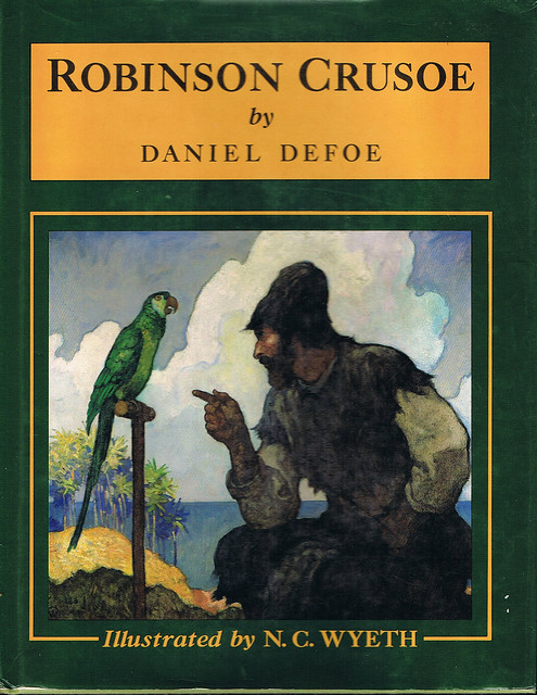 Robinson crusoe cover art 1920 by n c wyeth my copy of ro flickr phot - Robinson crusoe style ...