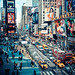 times square action - new york city by pamela ross