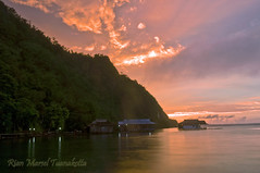 Sunset at Sawai, North of Seram Island