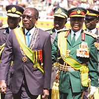 President Robert Mugabe of the Republic of Zimbabwe at the 31st anniversary rally commemorating the realization of national indepedence of the Southern African state. The country is preparing for national elections later this year. by Pan-African News Wire File Photos