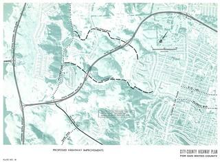 Proposed Highway Improvements (western Highway 92, 1962)