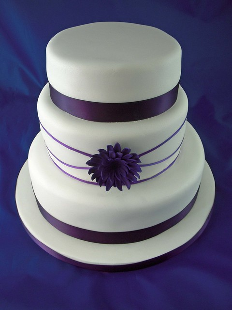 Hoas Blog Kirsty 39s Purple Wedding Cake I Was Asked To Make A Very Simple Wedding Cake