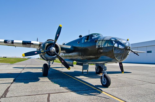 B25 Mitchell Bomber on HFF ramp after flight