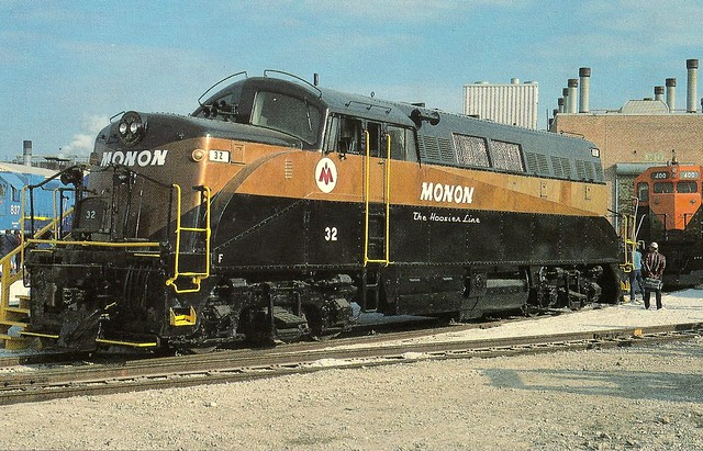 Monon0002 the hoosier line monon 32 is on display at the for Electro motive division of general motors