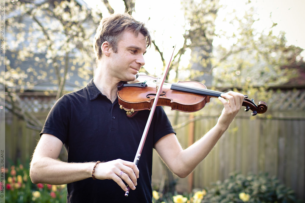 sebastian lange with his violin