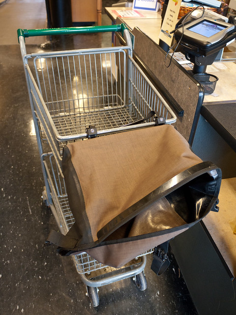Ortlieb Pannier on Shopping Cart