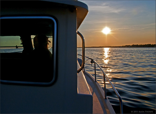 sunset boat ride by Alida's Photos