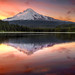 Reflection of Mount Hood on Trillium Lake at Sunset - HDR by David Gn Photography