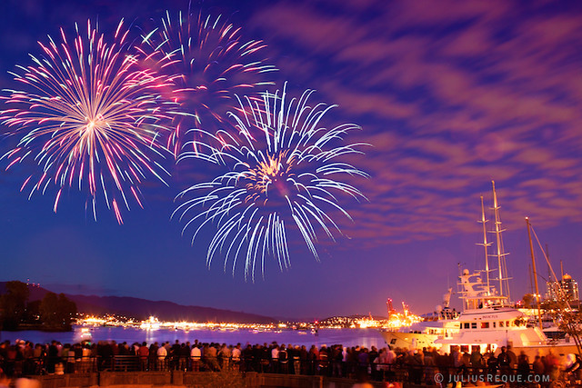 Tonight in Vancouver: BOOM BOOM BOOM CanadaDay fireworks in Vancouver