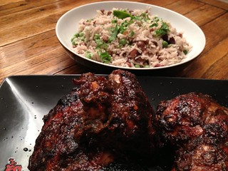Jerk Chicken : Jerk Chicken Rice and Peas