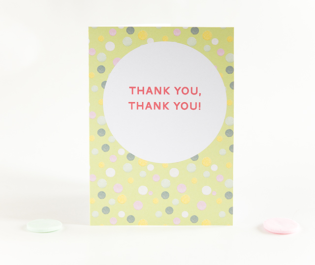 thank you, thank you! card