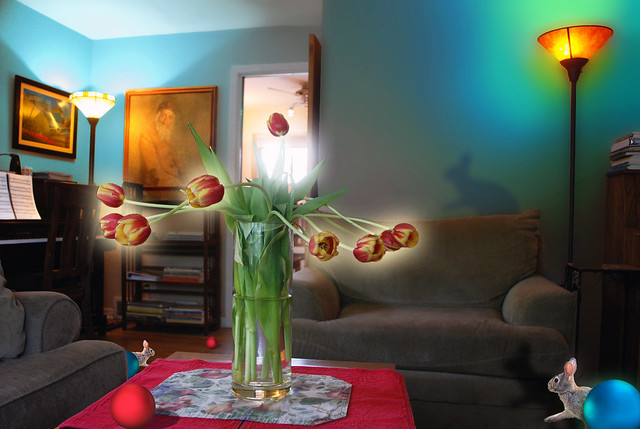 Another Look, Into the Light, Tulips and Living Room with Red Ball, May 16, 2014 12 x460 full bpx brighter