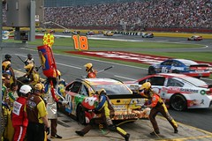 Busy Charlotte Motor Speedway Pit Road
