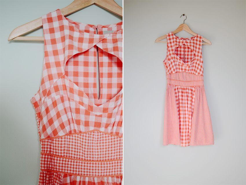 coral-gingham-sundress a