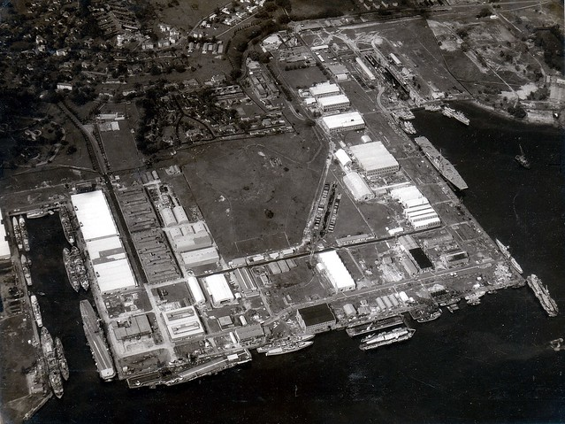Mar 8 11 1962 Aerial Of The Singapore Naval Base At