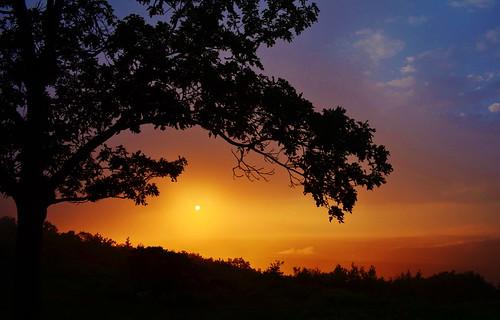 sunset fog poconos monroecounty bigpoconostatepapark
