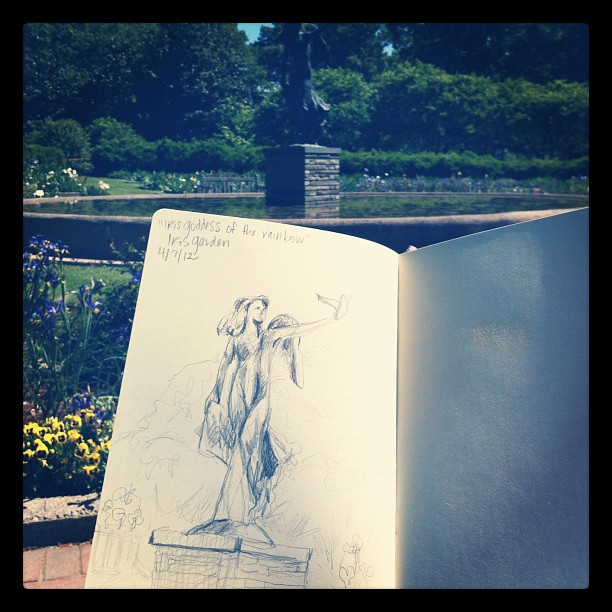 Iris garden + where I was married :) #sketch