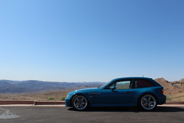 Road Trip —  Phoenix, AZ to Las Vegas, NV | 2002 M Coupe | Laguna Seca Blue | Black