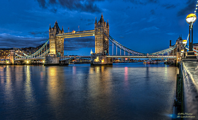 Tower Bridge during the blue hour...(Explored)