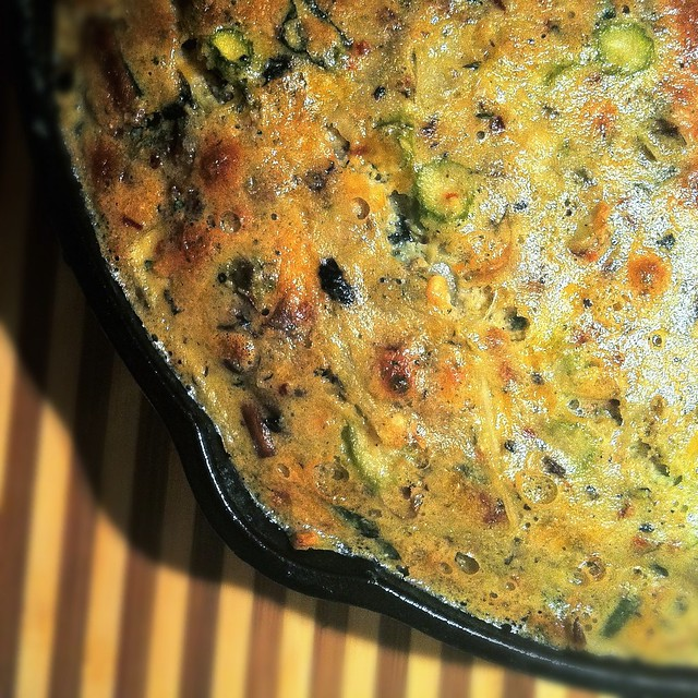 Spring Frittata Recipe (Asparagus and Mushrooms) Mushroom Egg Cooking ...
