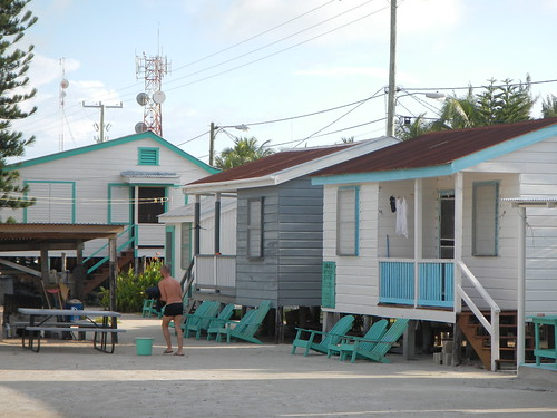 Tourist cabanas dating to 1990s